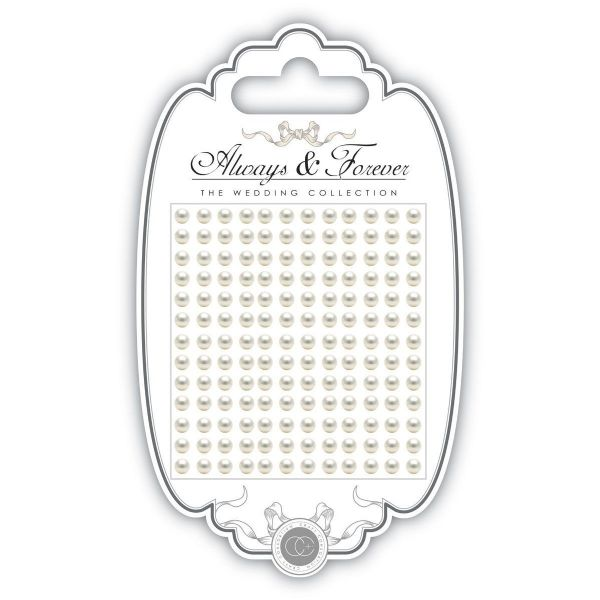Always & Forever Adhesive Gems - 5mm - Pearl